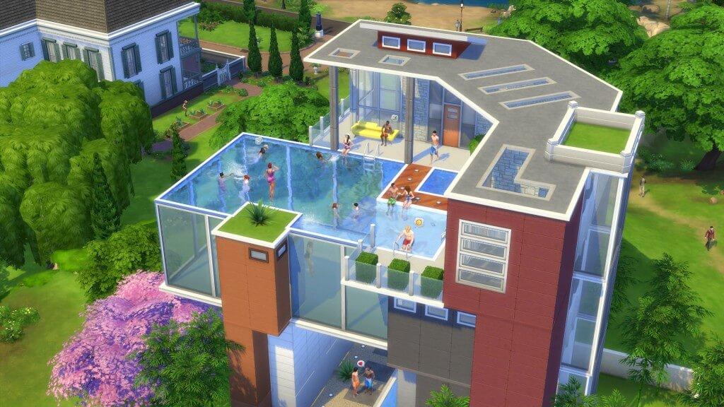 Отличная вечеринка в доме с бассейном